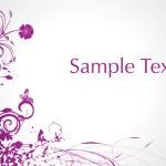 Purple swirl and butterrfly illustration — Stock Vector