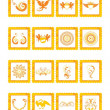 Set of icons with background — Stock Vector