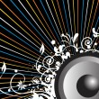 Royalty-Free Stock Vektorfiler: Vector illustration of audio
