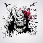 Grungy skull illustration — Stock Vector