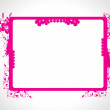 Abstract decorative floral frame — Stock Vector