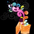 Royalty-Free Stock Imagem Vetorial: Colorful artwork with black background