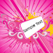Royalty-Free Stock Vectorielle: Abstract art with pink grunge background