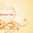 Romantic pattern wallpaper illustration - Stock Vector