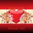 Royalty-Free Stock Vektorfiler: Romantic pattern wallpaper illustration