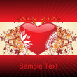 Royalty-Free Stock Imagen vectorial: Romantic pattern wallpaper illustration
