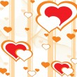 Royalty-Free Stock ベクターイメージ: Romantic pattern wallpaper illustration
