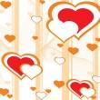 Romantic pattern wallpaper illustration — Stock Vector #1459258