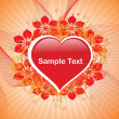 Vector de stock : Romantic pattern wallpaper illustration