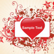 Romantic pattern wallpaper illustration — Stock Vector