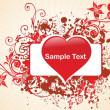romantische patroon achtergrond illustration — Stockvector