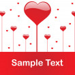 Romantic pattern wallpaper illustration — Vector de stock #1459273