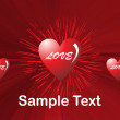 Romantic pattern wallpaper illustration — Vector de stock  #1459274