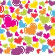 Background with colorful heart — Stok Vektör