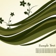 Stok Vektör: Grey waves and flower background