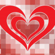 Royalty-Free Stock ベクターイメージ: Mosaic background with romantic heart