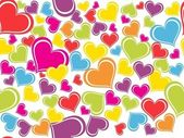 Background with colorful heart — Stock Vector