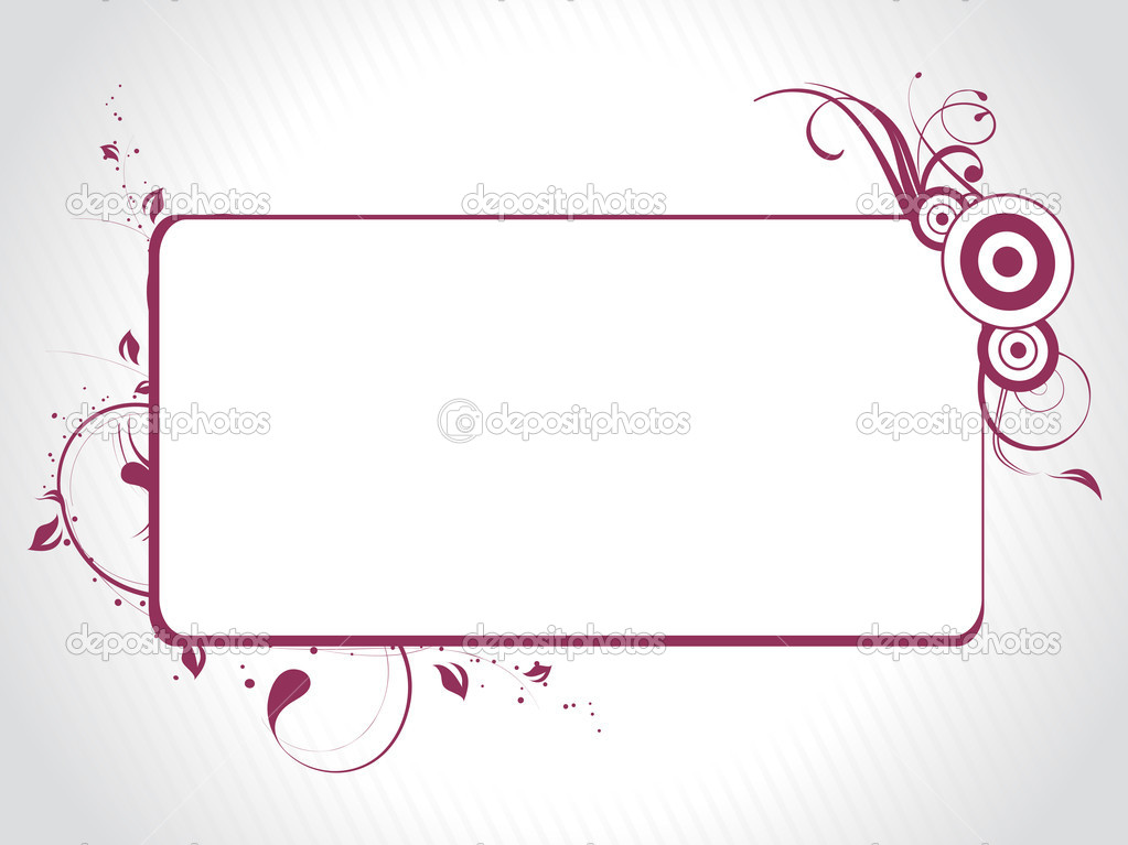 Abstract decorative floral frame design — Stock Vector #1451379