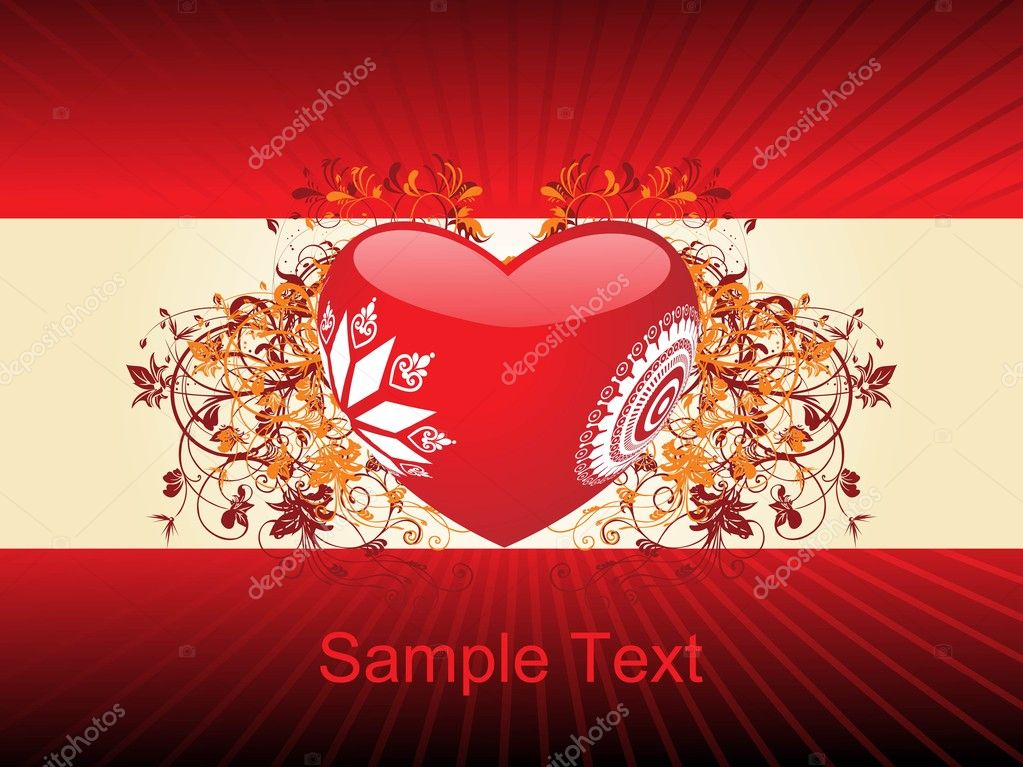 Romantic pattern wallpaper, vector illustration — Stock Vector #1459247