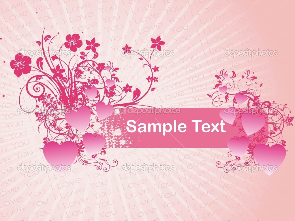 Romantic pattern wallpaper, vector illustration — Stock Vector #1459252
