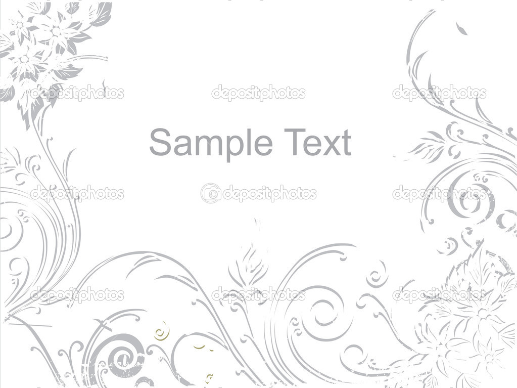 Grey waves and flower background with place for text — Stok Vektör #1459314