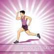 Athletic man running illustration - Stock Vector