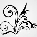 Vector beautiful design black tattoo — Stock Vector #1466673