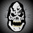Royalty-Free Stock Vektorfiler: Grungy halloween mask on rays background