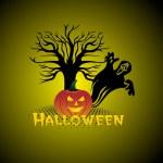 Abstract halloween background, wallpaper — Stock Vector
