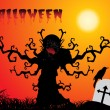 Abstract halloween background, wallpaper - Image vectorielle