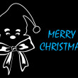 Black background with santa face - Vektorgrafik