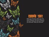 Illustrazione di farfalla colorata — Vettoriale Stock