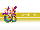Abstract colorful sample text background — Stock Vector