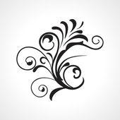 Vector beautiful design black tattoo — Stock Vector