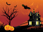 Abstract halloween background, wallpaper — Vector de stock