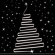 Royalty-Free Stock Vektorgrafik: Black twinkle star with xmas tree