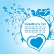 Royalty-Free Stock Vectorafbeeldingen: Heart shape card with floral, butterfly