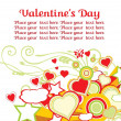 Royalty-Free Stock Векторное изображение: Valentines day background