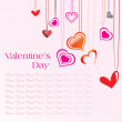 Stock Vector: Background with hanging heart