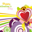 Funky valentine background — Vettoriali Stock