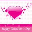 Grungy background for valentine day — Image vectorielle