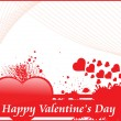 Stock Vector: Grungy background for valentine day