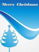 Isolated blue xmas tree with background — Stock Vector