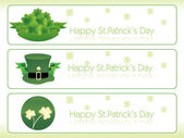 Banner with beautiful shamrock — Stock Vector