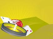 Vector illustration of casino elements — Stock Vector