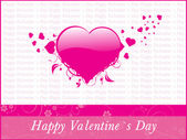 Grungy background for valentine day — Stock Vector