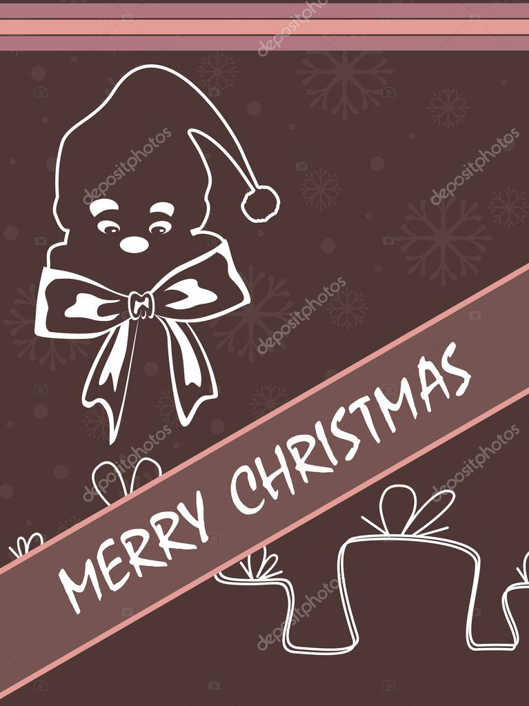 Abstract merry christmas background, illustration  Stock Vector #1484470