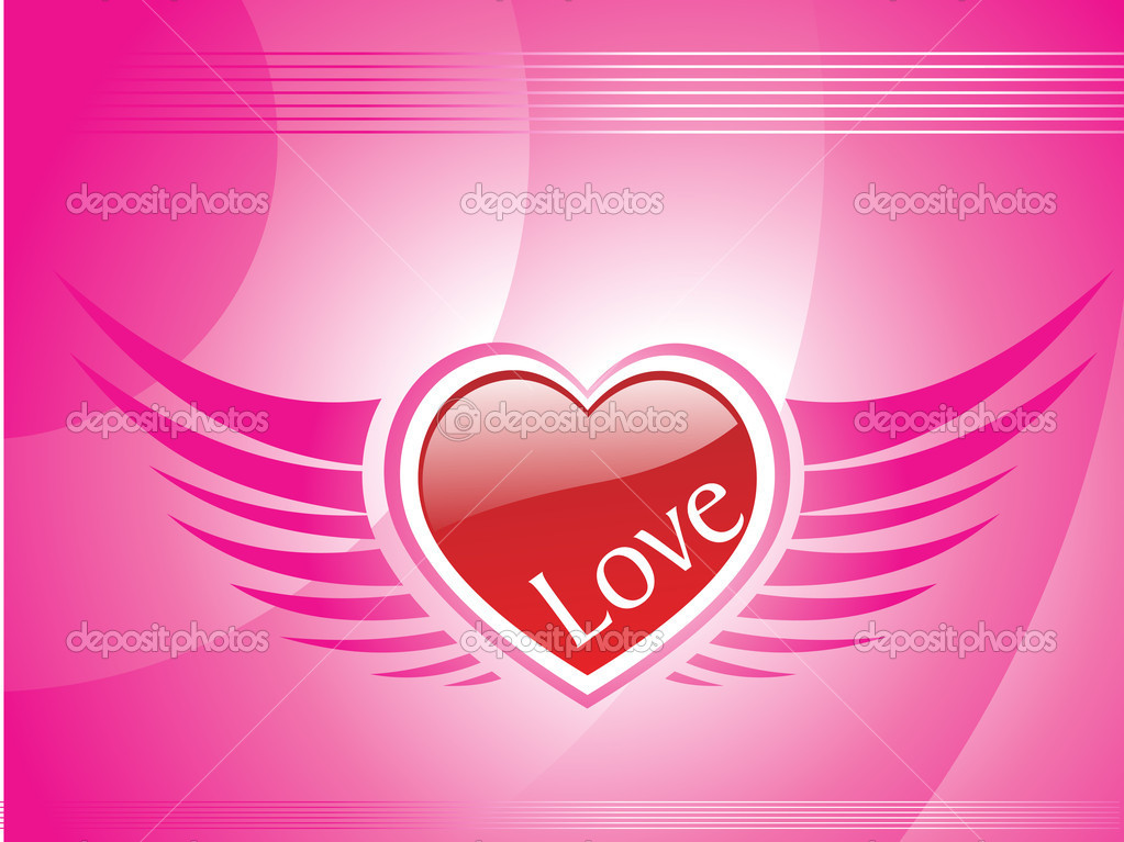 Pink background with ornate pattern heart — Stock Vector #1485156