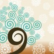 Royalty-Free Stock Vector Image: Creative background with swirly tree