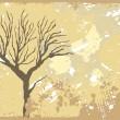 死んだ木とテクスチャ背景 — ストックベクタ